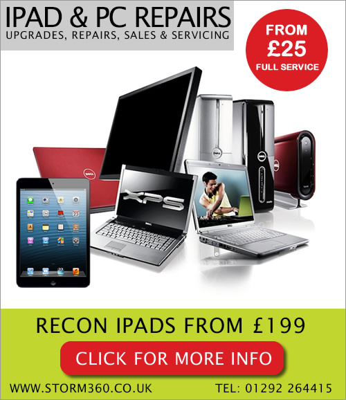 Laptop, PC, iPad & Server Repairs